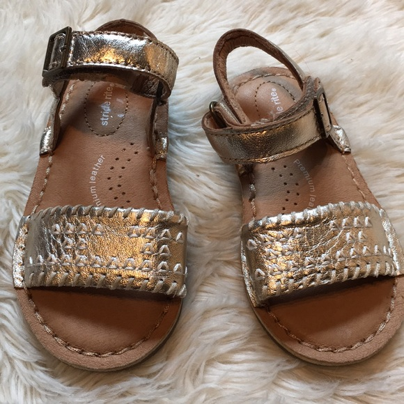 Stride Rite Shoes | Gold Velcro Sandals